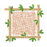 Bamboo and fabric Royalty Free Stock Photos