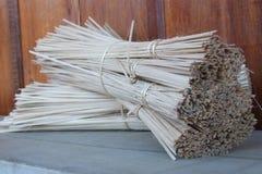 Bamboo fabric line Spools use. Durability Stock Image