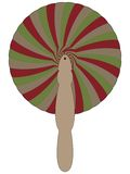 Bamboo fan against white Royalty Free Stock Images