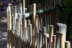 Bamboo fence. Outside royalty free stock photography