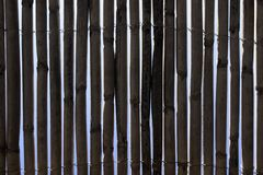 Bamboo Fence. A beach bar fence made of Bamboo stock photo