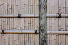 Bamboo fence at an ancient temple in Kyoto, Japan. Close up Royalty Free Stock Photography