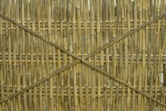 Bamboo fence background philippines Royalty Free Stock Image