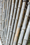 Bamboo fence. Close up bamboo fence background Stock Photo