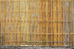 Bamboo fence in country area. Royalty Free Stock Photos