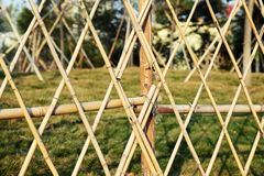 Bamboo garden fence. Detail of bamboo garden fence Royalty Free Stock Photography