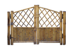 Bamboo fence gate Royalty Free Stock Image