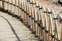 Bamboo fence in a Japanese garden Stock Images