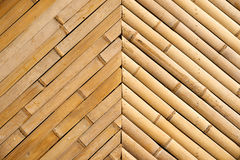 Bamboo fence pattern Royalty Free Stock Image