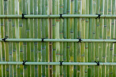 Bamboo fence in the street, Tokyo, Japan Stock Photo