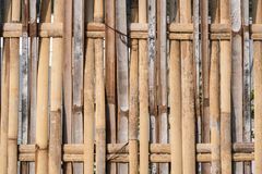 Bamboo fence used for background work stock photos