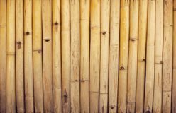 Bamboo fence or wall texture background for interior or exterior. Design Stock Images