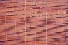 Bamboo fence or wall texture background for interior or exterior. Design Stock Image