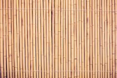 Bamboo fence or wall texture background for interior or exterior. Design Royalty Free Stock Photo