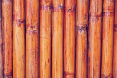Bamboo fence or wall texture background for interior or exterior. Design Stock Photo