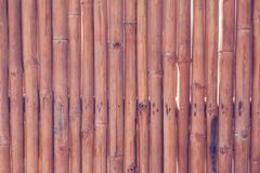 Bamboo fence or wall texture background for interior or exterior. Design Royalty Free Stock Photography