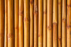 Bamboo fence or wall texture background for interior or exterior Royalty Free Stock Photography