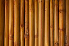 Bamboo fence or wall texture background for interior or exterior Stock Photos
