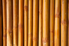 Bamboo fence or wall texture background for interior or exterior Stock Images