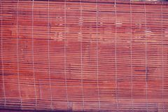 Bamboo fence or wall texture background for interior or exterior. Design Royalty Free Stock Image