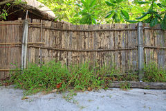 Bamboo fences Stock Images