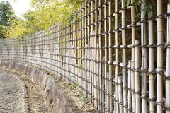 Bamboo fences Stock Photo