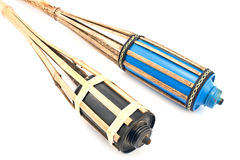 Bamboo fire torch Royalty Free Stock Images