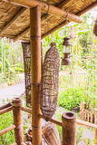 Bamboo fish trap. At demonstrated cottage Stock Image