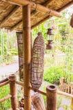 Bamboo fish trap Stock Image