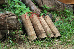 Bamboo Flask 3 Stock Photo