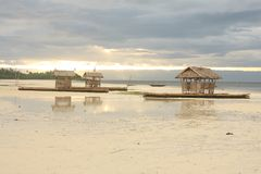 Bamboo floating house / restaurant. In Bohol, Philippines Stock Photography