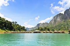 Bamboo floating resort Stock Photography