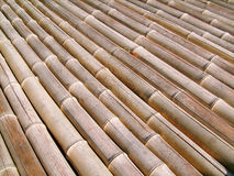Bamboo floor. Full frame of sustainable traditional bamboo flooring Royalty Free Stock Photo