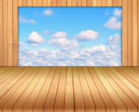 Bamboo floor background. Royalty Free Stock Photography