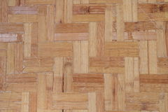 Bamboo flooring. Is made from bamboo, the sun and the wind and rain Stock Photo