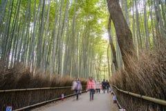 Bamboo forest in Arashiyama at Kyoto Stock Photo