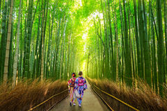 Bamboo forest of Arashiyama near Kyoto, Japan Royalty Free Stock Photography