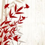 Bamboo forest card Stock Images