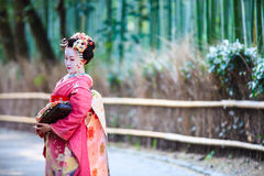 The bamboo forest of Kyoto, Japan Stock Images