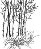 Chinese art: sumi bamboo Royalty Free Stock Photos