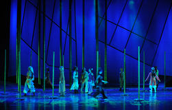 The bamboo forest story-The dance drama The legend of the Condor Heroes Royalty Free Stock Photo