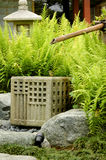Bamboo fountain. A bamboo fountain in a zen garden Royalty Free Stock Photo