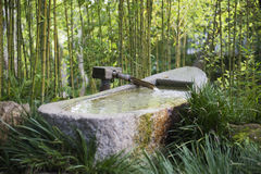 Bamboo Fountain in Japan. Traditional Bamboo Fountain in Japan Royalty Free Stock Photo