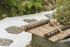 Bamboo Fountain in Japan Stock Photo