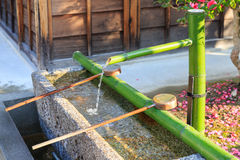 Bamboo Fountain Stock Photo