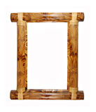 Bamboo frame. Wooden bamboo frame isolated on a white background royalty free stock images