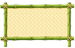 Bamboo Frame. With Woven isolated on white