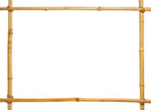 Bamboo frame. With blank center isolated Royalty Free Stock Images