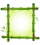 Bamboo frame. Green jungle bamboo frame design Stock Photos
