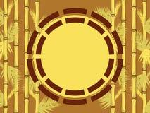 Bamboo-frame Stock Image